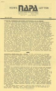 Thumbnail of NAPA September-October-November 1981 newsletter