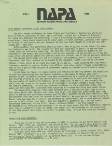 Thumbnail of NAPA Fall 1984 newsletter