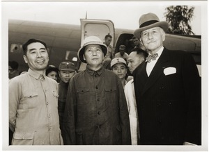 Thumbnail of Chou En-lai, Mao Tse-tung, and Hurley