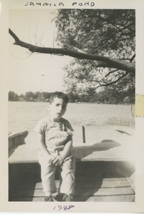 Thumbnail of Paul Kahn in small boat on Jamaica Pond