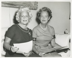 Thumbnail of Margaret Milbank Bogert and an unidentified woman reviewing paperwork