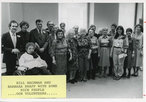 Thumbnail of Bill Bechman and Barbara Knapp with volunteers