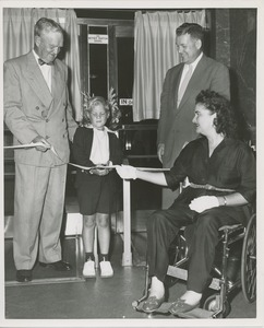 Thumbnail of Ribbon cutting at Betsy Barton doors