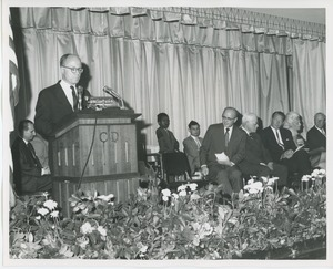 Thumbnail of Jeremiah Milbank, Jr. speaking at commencement exercises