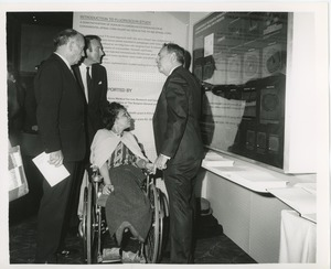 Thumbnail of Senator Jacob Javits, Orin Lehman, Charlotte Cohen, and Mr. Weiss at the national conference on rehabilitation