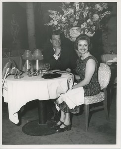 Thumbnail of June Trietsch Arzt and unidentified man at a restaurant