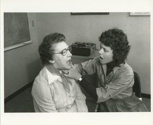 Thumbnail of A speech therapist works with a patient
