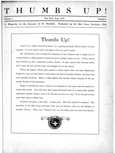 Thumbnail of Thumbs up! A magazine in the interests of the disabled vol. 1 no. 1