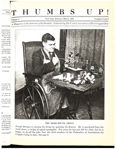 Thumbnail of Thumbs up! A magazine in the interests of the disabled vol. 1 no. 8 and 9