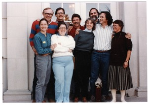 Thumbnail of Organic Farmers Associations Council meeting: group posed by a doorway