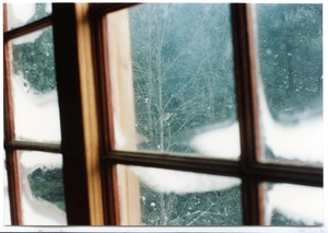 Thumbnail of Organic Farmers Associations Council meeting: view of snow through a window