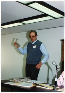 Thumbnail of Low-input Sustainable Agriculture (LISA) seminar: unidentified man speaking at the seminar