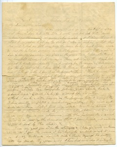 Thumbnail of Letter from Aldin and Charlotte Bailey Grout to James Bailey