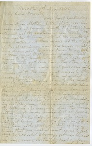 Thumbnail of Letter from Aldin Grout to James and Elizabeth Bailey