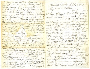 Thumbnail of Letter from Aldin Grout to Elizabeth Bailey