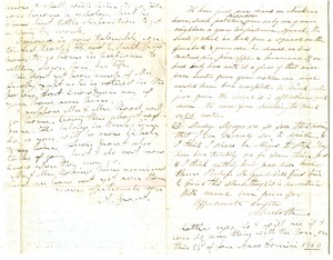 Thumbnail of Letter from Aldin and Charlotte Bailey Grout to James and Elizabeth Bailey