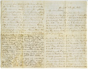 Thumbnail of Letter from Aldin and Charlotte Bailey Grout to Elizabeth Bailey