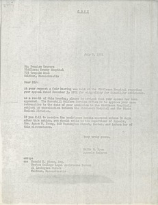 Thumbnail of Letter from Edith M. Ryan to Douglas Travers