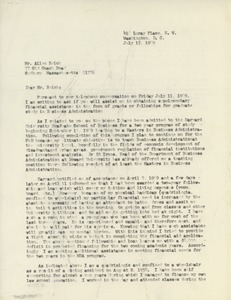 Thumbnail of Letter from Thomas H. Countee to Alan A. Reich