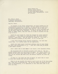 Thumbnail of Letter from Betty Cofield to Alan A. Reich