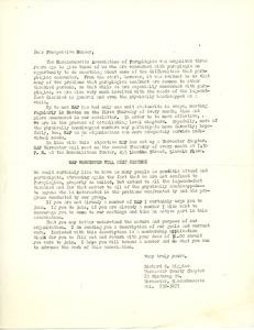 Thumbnail of Letter from Dick Higgins to prospective MAP members