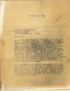 Thumbnail of Letter from S. Stephen Rosenfeld to Norman Landstrom