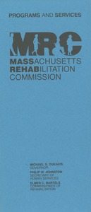 Thumbnail of Programs and services of the Massachusetts rehabilitation commission