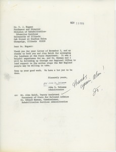 Thumbnail of Letter from John D. Twiname to Timothy J. Nugent