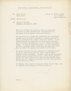 Thumbnail of Memorandum from Marcel C. Durot to Elmer C. Bartels and David Barrie