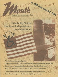 Thumbnail of Mouth magazine voice of the disability nation vol. 8 no. 3 September/October