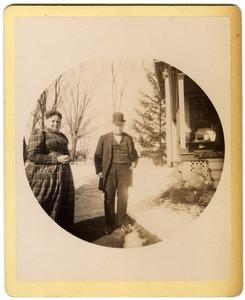 Thumbnail of Mary and Hammond Brown outside their home