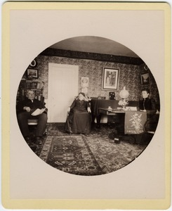 Thumbnail of Hammond Brown with wife Mary, and daughter Annie Elizabeth, in their parlor