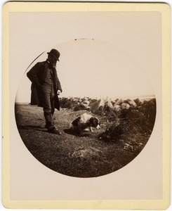 Thumbnail of Albert Henry Blanchard and dog
