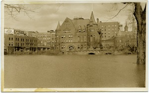 Thumbnail of Aftermath of the great Hartford Flood Flood waters by the YMCA building (corner of Ford and Pearl Streets)