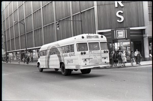 Thumbnail of Free Spirit Press bus driving down the street