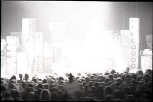 Thumbnail of Grateful Dead concert at Springfield Civic Center: band in performance (washed             out in the spotlights)