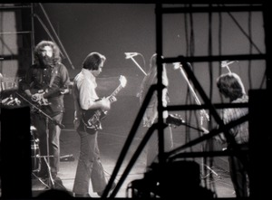 Thumbnail of Grateful Dead concert at Springfield Civic Center: band in performance: Jerry             Garcia (facing camera) and Bob Weir (l. to r.)