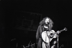 Thumbnail of Jethro Tull in concert at the Springfield Civic Center: Ian Anderson with             acoustic guitar