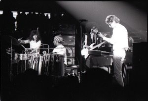 Thumbnail of Santana concert at the Springfield Civic Center: Carlos Santana and rhythm             section