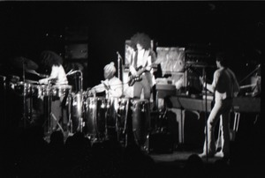 Thumbnail of Santana concert at the Springfield Civic Center: band in performance