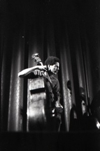Thumbnail of Livingston Taylor in concert: acoustic bass             player (Walter Robinson?)