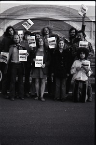 Thumbnail of Free Spirit Press crew holding issues of the magazine