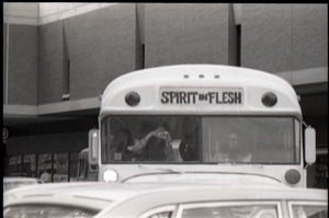 Thumbnail of Free Spirit Press bus driving down Springfield city streets