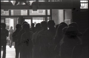 Thumbnail of Line-up inside the Student Union Building, UMass Amherst (badly underexposed)
