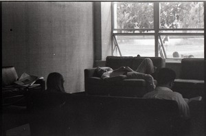 Thumbnail of Students seated by windows in the UMass Student Union