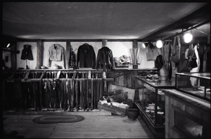 Display of leather work, the Leather Shed