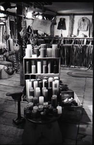 Thumbnail of Display of candles at the Leather Shed