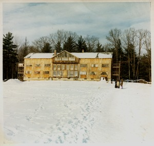 Thumbnail of Brotherhood of the Spirit community building in the snow