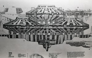 Thumbnail of Architectural sketch of Babel city by Paolo Soleri