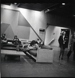 Thumbnail of Students sitting in the basement of the UMass Amherst Campus Center